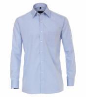Chemise CASAMODA COMFORT FIT UNI POPELINE bleu clair avec col Kent en coupe classique