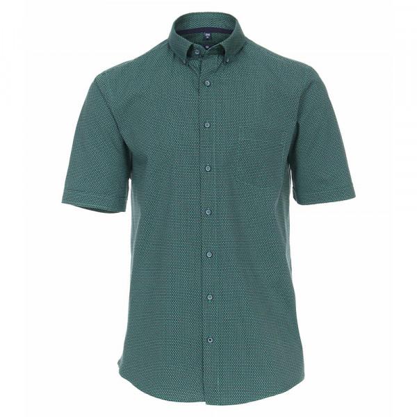 Chemise Redmond REGULAR FIT UNI POPELINE vert avec col Button Down en coupe classique