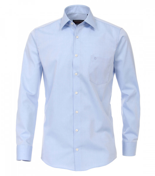 Chemise CASAMODA MODERN FIT UNI POPELINE bleu clair avec col Kent en coupe moderne