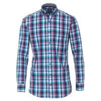 Chemise Redmond COMFORT FIT PRINT bleu moyen avec col Button Down en coupe classique