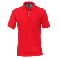 Polo Redmond rouge en coupe classique