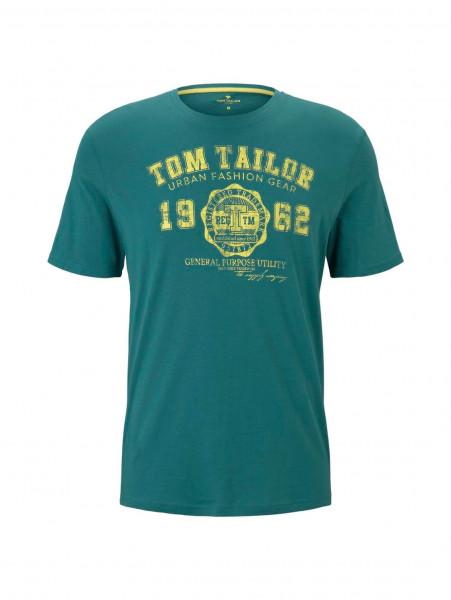 T-shirt Tom Tailor vert en coupe classique