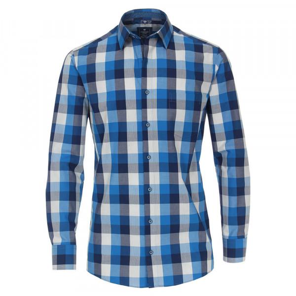 Chemise Redmond REGULAR FIT UNI POPELINE bleu clair avec col Kent en coupe classique