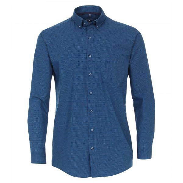 Chemise Redmond REGULAR FIT UNI POPELINE bleu clair avec col Button Down en coupe classique