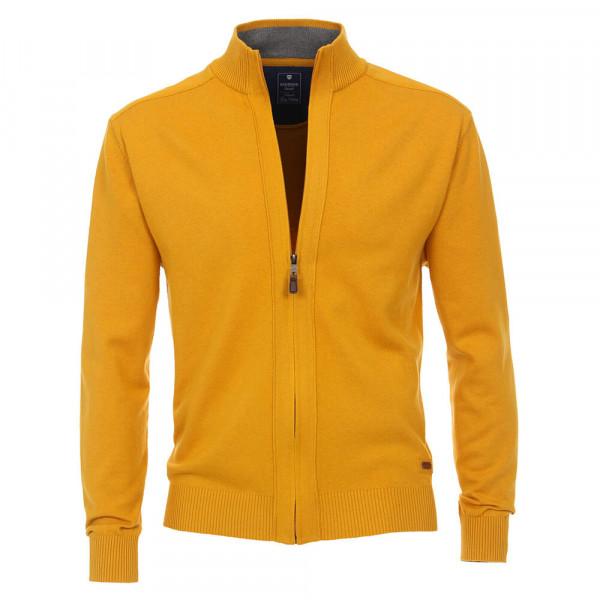 Cardigan Redmond jaune en coupe classique