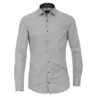 Chemise Venti MODERN FIT PRINT anthracite avec col Kent en coupe moderne