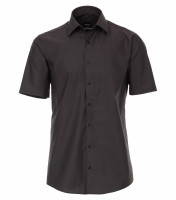 Chemise Venti MODERN FIT UNI POPELINE anthracite avec col Kent en coupe moderne