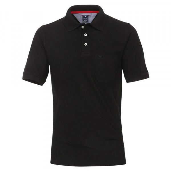 Polo Redmond noir en coupe classique