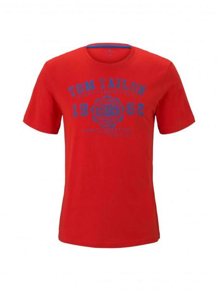 T-shirt Tom Tailor rouge en coupe classique