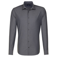Chemise Seidensticker SHAPED FIL À FIL anthracite avec col Business Kent en coupe moderne