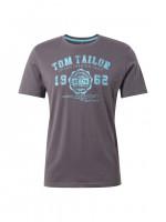 T-shirt Tom Tailor anthracite en coupe classique