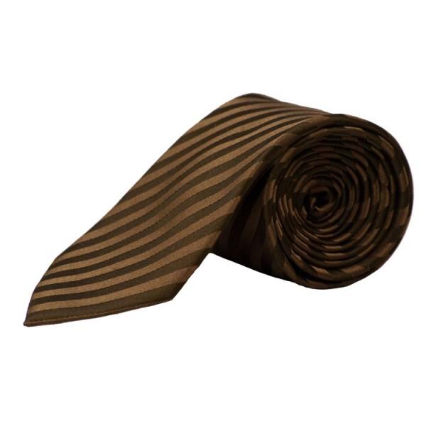 Cravate Parsley brune rayé