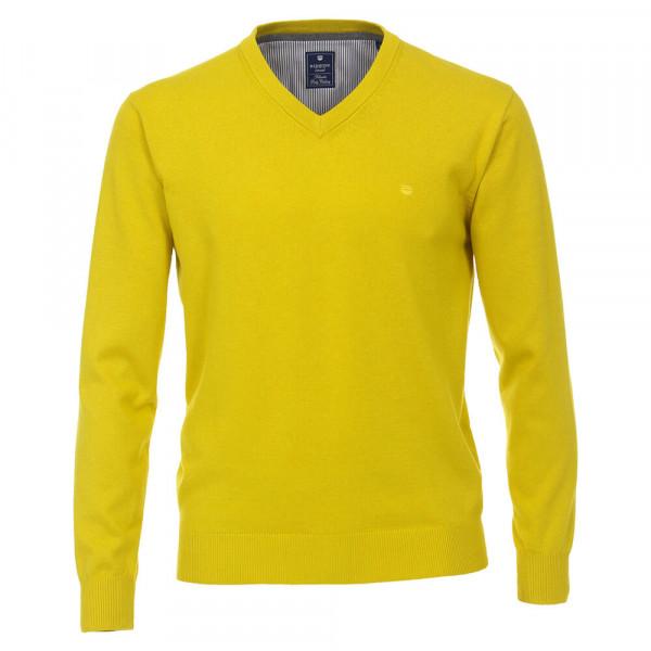Pull Redmond jaune en coupe classique