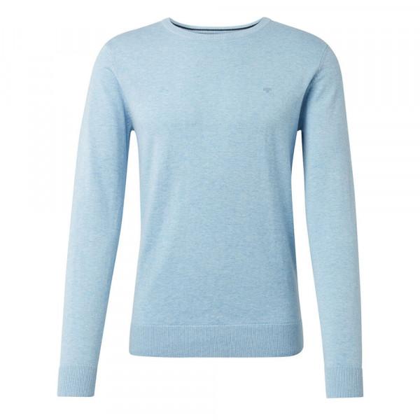 Pull Tom Tailor bleu clair en coupe classique