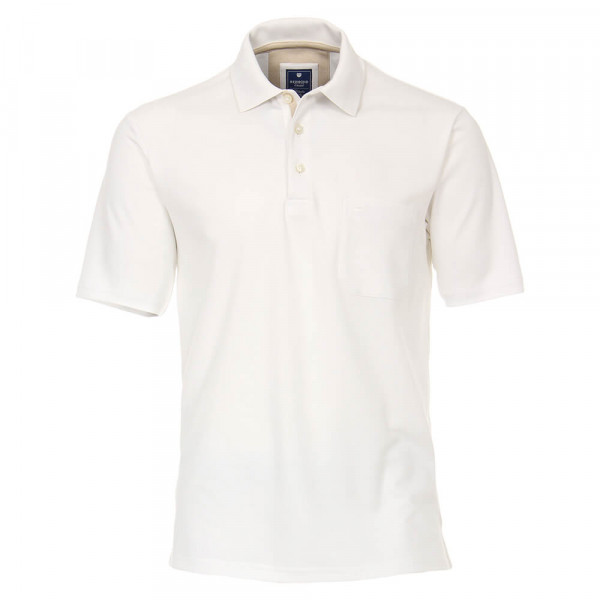 Polo Redmond blanc en coupe classique