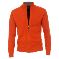 Cardigan Redmond orange en coupe classique