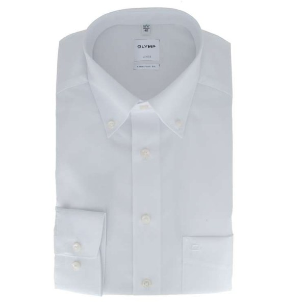 """Chemise Olymp """"LUXOR COMFORT FIT"""" blance, col button down, coupe classique"""
