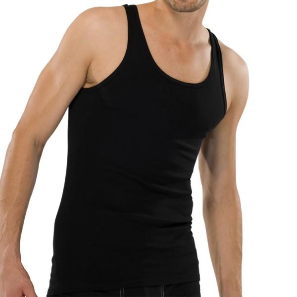 """Schiesser """"ORIGINAL FEINRIPP"""" Shirt noir"""
