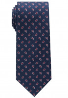 Cravate Eterna bleu foncé à motifs