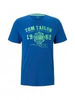 T-shirt Tom Tailor bleu moyen en coupe classique