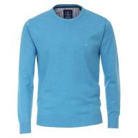 Pull Redmond bleu clair en coupe classique