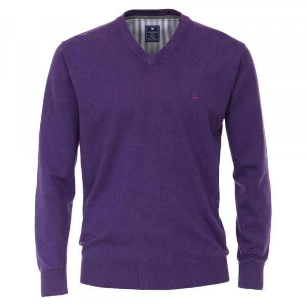 Pull Redmond violet en coupe classique