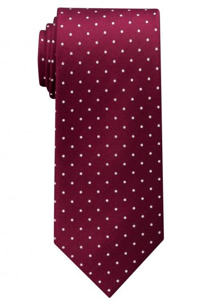 Cravate Eterna rouge foncé tacheté