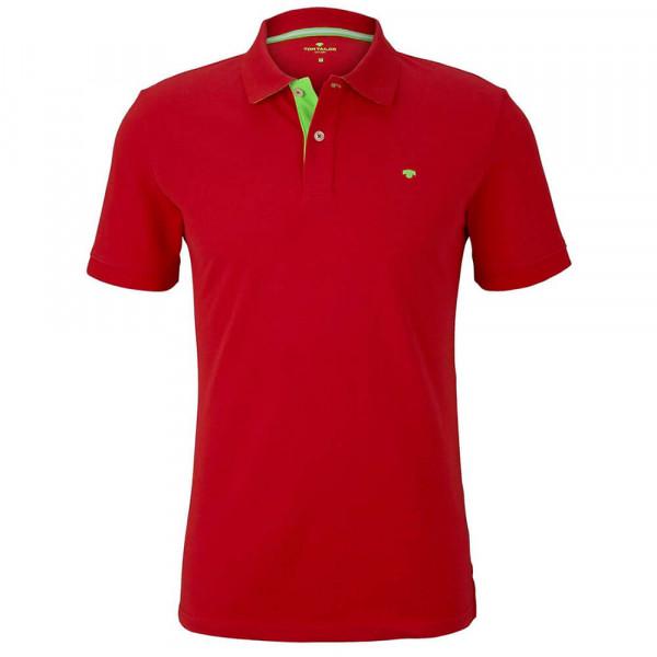 Polo Tom Tailor rouge en coupe classique