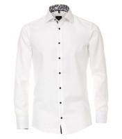 Chemise Venti MODERN FIT STRUCTURE blanc avec col Kent en coupe moderne