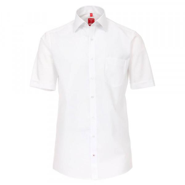 Chemise Redmond COMFORT FIT UNI POPELINE blanc avec col Kent en coupe classique