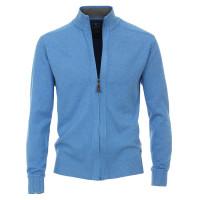 Cardigan Redmond bleu clair en coupe classique