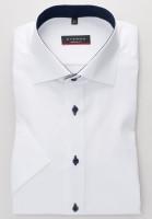 Chemise Eterna MODERN FIT BEAUX OXFORD blanc avec col Classic Kent en coupe moderne