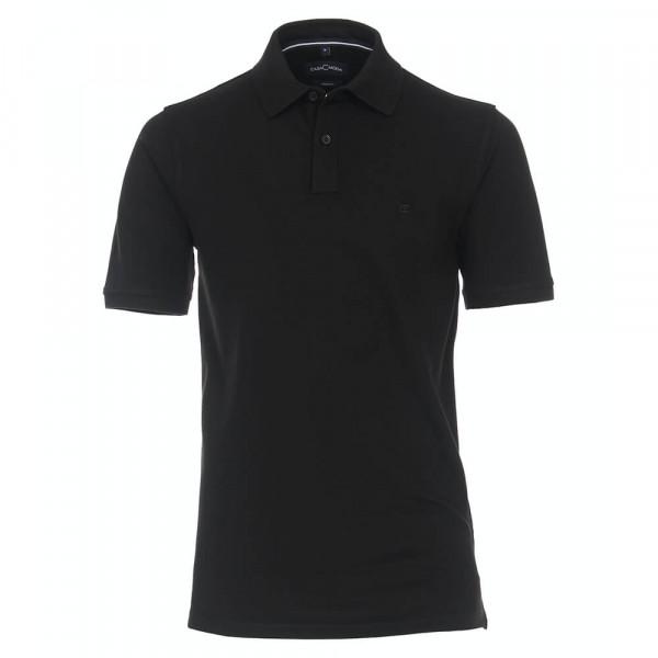Polo CASAMODA noir en coupe classique