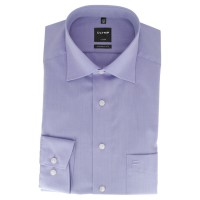 Chemise OLYMP Luxor modern fit CHAMBRAY lilas avec col Nouveau Kent en coupe moderne