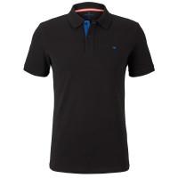 Polo Tom Tailor noir en coupe classique