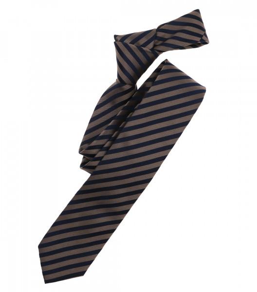 Cravate Venti marron clair rayé