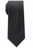 Cravate Eterna noir rayé