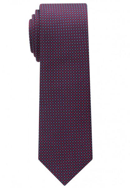 Cravate Eterna rouge foncé structuré