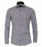 Chemise Venti MODERN FIT STRUCTURE anthracite avec col Kent en coupe moderne
