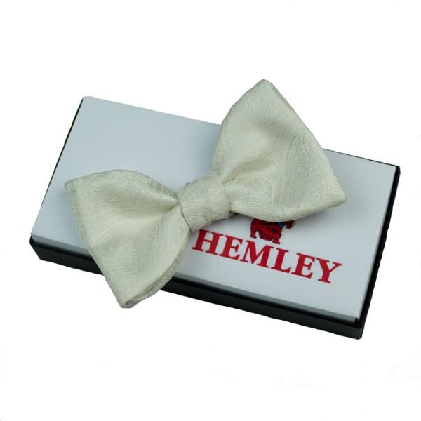 Nœud papillon Hemley crème à motifs