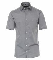 Chemise CASAMODA MODERN FIT UNI POPELINE gris avec col Kent en coupe moderne