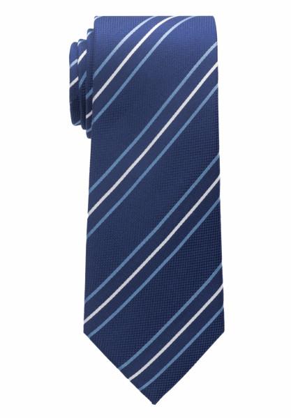 Cravate Eterna bleu moyen rayé