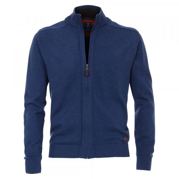 Cardigan Redmond bleu moyen en coupe classique