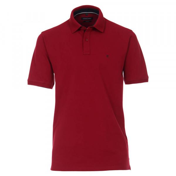 Polo CASAMODA rouge foncé en coupe classique