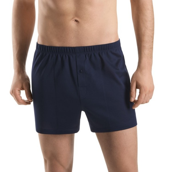"Hanro ""COTTON SPORTY"" Boxer bleu marine"