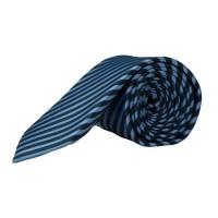Cravate Olymp bleue rayé