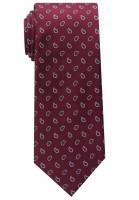 Cravate Eterna rouge foncé à motifs