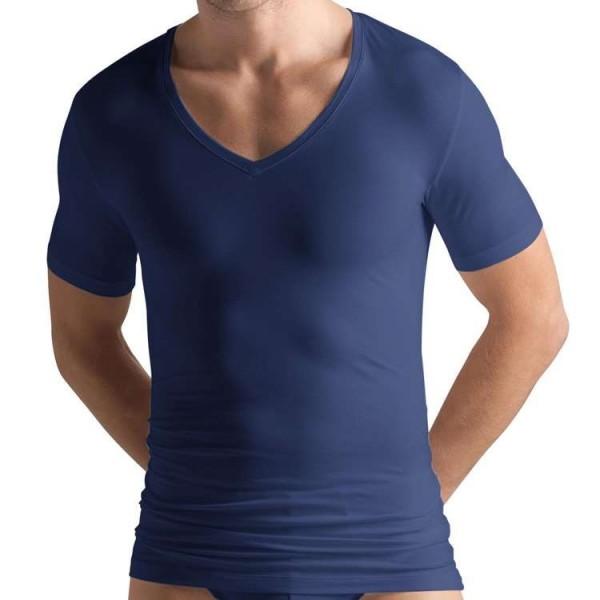 "Hanro ""COTTON SUPERIOR"" T-Shirt bleu marine"