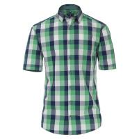 Chemise Redmond REGULAR FIT UNI POPELINE vert avec col Kent en coupe classique
