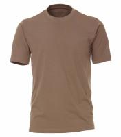 T-shirt CASAMODA marron clair en coupe classique
